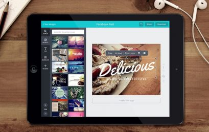Using the Canva app for social posts